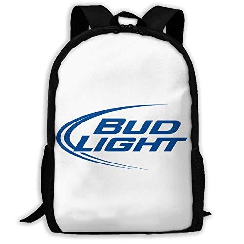 Bud Light Männer (sghshsgh Rucksack für Hochschule,Backpack for Men Women,Bud Light Logo Backpacks Hiking Laptop Backpack Travel Large Shoulder Bags for School Shopping Outdoor Sports)