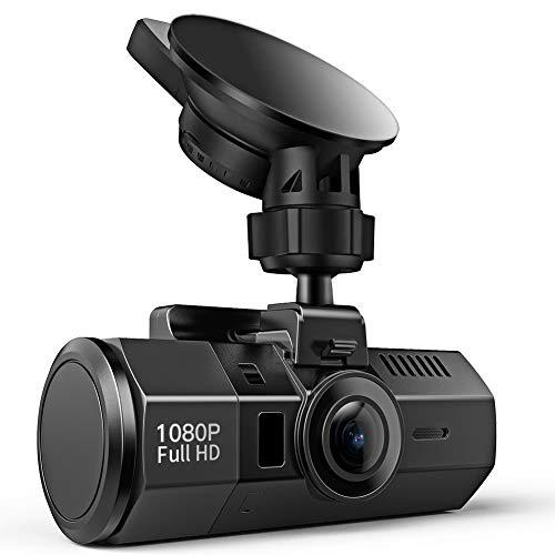 Crosstour Mini Dashcam 1080P Full HD Autokamera mit 170 ° Weitwinkelobjektiv, HDR, Nachtsicht,G-Sensor, Loop-Aufnahme, und Bewegungserkennung(CR700)