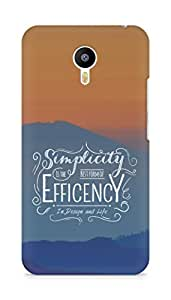 Amez Simplicity is the best form of Efficency Back Cover For Meizum 2 Note