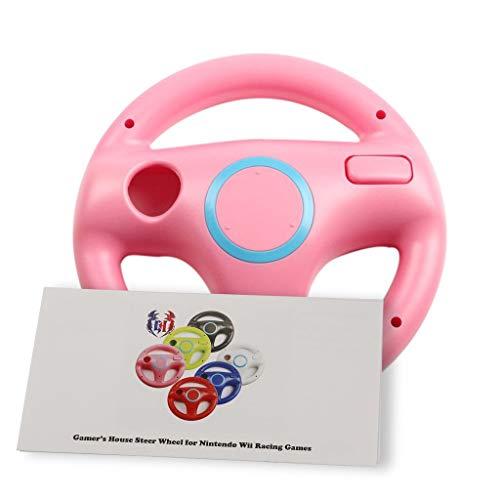 Wii U Wii Lenkrad Original Weiß für Rennspiele Mario Kart Racing Wheels rosa Peach pink