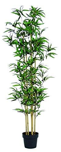 Bamboo bambu - albero artificiale con tronchi veri da arredo - idoneo uso esterno resistente ai raggi u.v. certificato tuv - alto 160 cm