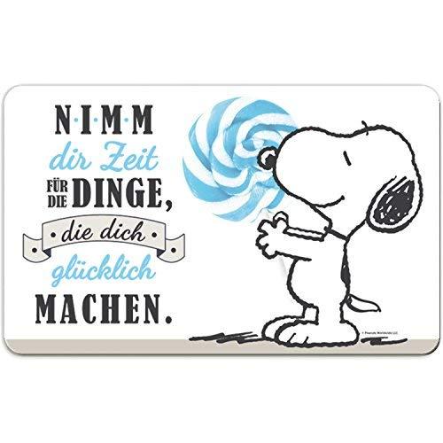 Peanuts Snoopy Collection - Brettchen Nimm dir Zeit für Dinge, 23,5 x 14,5 cm