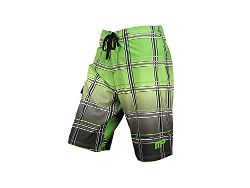 MusclePharm Boardshorts Sports Gear-verde - 86,36 cm - 41VZNWtnbpL