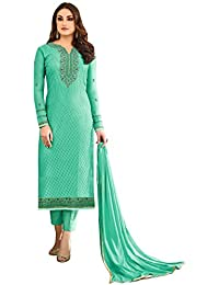Likeadiva Like A Diva Embroidered Salwar Kameez Semi Stitched Dress Material For Women