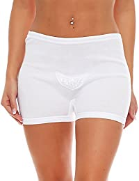 Set of 3 Women's cotton panties with lace front (waist brief, panties) No. 410