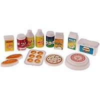 MagiDeal 12 Pezzi Casa di Bambole Miniatura Cibo Cucina Piatti Vasellame Accessori Giocattoli Bambini Plastico Barbie