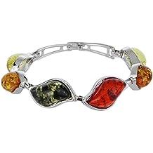 Yazilind Rara cadena nacional del estilo de la pulsera del brazalete multicolor Tíbet Ámbar pulsera del brazalete de Enlace