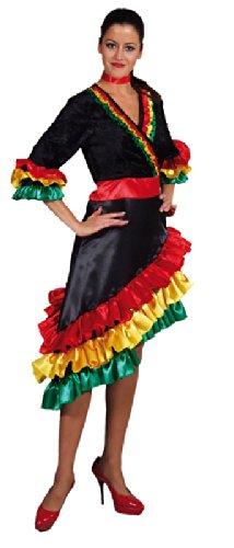 Imagen de disfraz con vestido brasileña española s, m, l, y xl