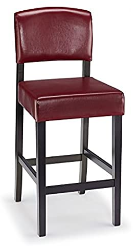 Louis Bar Stool Red Leather &