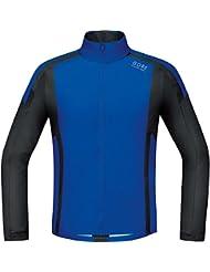 Gore Running Wear Air Windstopper Soft Shell SWSAIR609905 - Camiseta de manga larga para hombre, color azul / negro, talla L