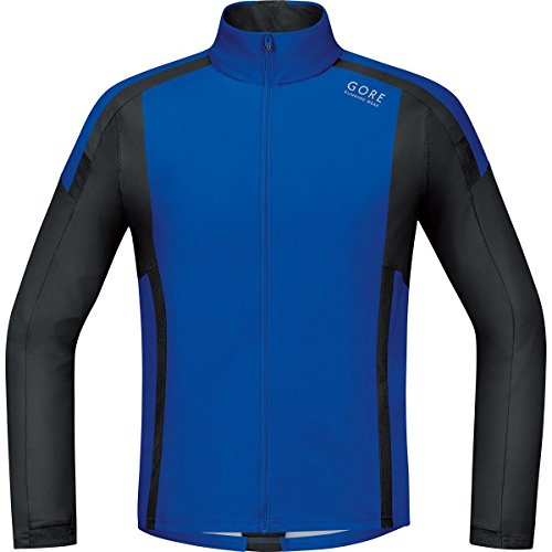 Gore Running Wear Air Windstopper Soft Shell SWSAIR609903 - Camiseta de manga larga para hombre, color azul / negro, talla S