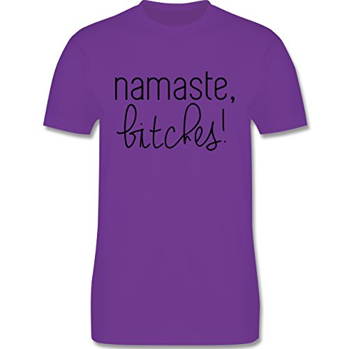 Statement Shirts - Namaste, Bitches! - Herren Premium T-Shirt Lila