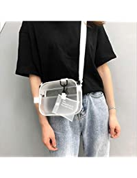 2c27f318a Clear Cross Body Messenger Shoulder Bag, Shoulder Bag Zippered Tote Bag PVC  Transparent Purse Adjustable