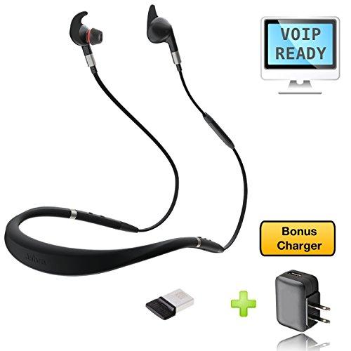 Jabra Evolve 75e Bluetooth-Headset USB Bundle - VoIP-Kommunikation - Windows PC, MAC, Smartphone, Streaming-Musik, Avaya, Skype, Cisco, Bria - inkl. Bonus-Ladegerät UC Bundle