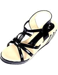 Neha Women's Brown Synthetic Sandals - B075DFCHYN