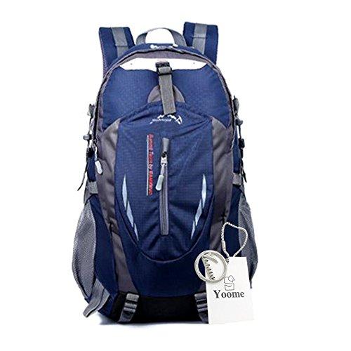Yoome Zaino per escursioni 40L Weekend Pack Custodia antipioggia per laptop e scomparto per laptop - per campeggio, viaggi, escursionismo - verde Blu scuro