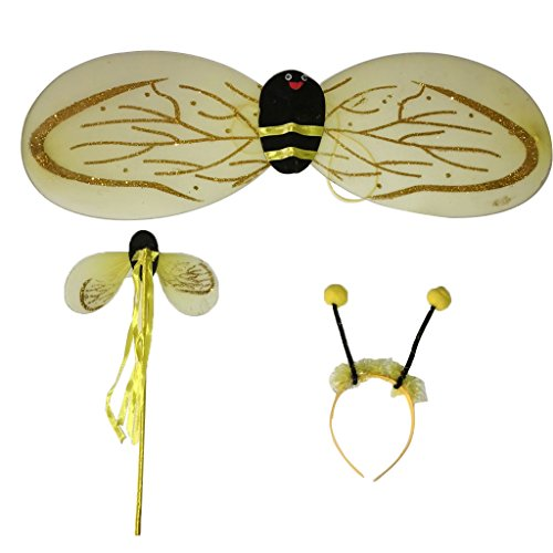 Sharplace 3Pcs Bienenflügel-Set Bienenkostüm Karneval ()