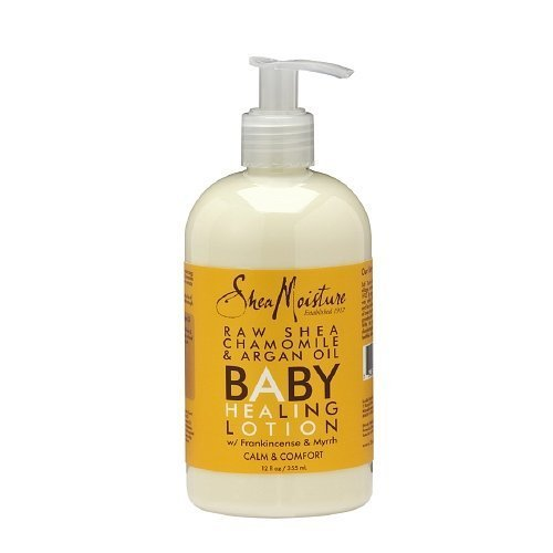 Shea Moisture Organic Raw Shea Chamomile and Argan Oil Baby Healing Lotion 12 Ounce ( 2 Pack ) by Shea Moisture