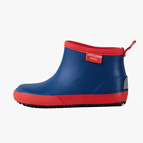 Chaussures de Pluie D'enfants de Shoes1-6 Ans et Bottes antidérapantes en Caoutchouc de Bébé de Fille pour Le Printemps et l'été (Couleur : Bleu, Taille : 17)
