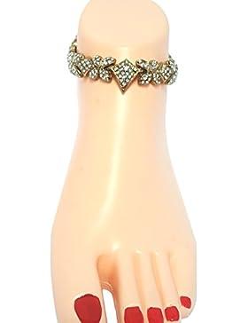 Payal Anklet piede indiano Bollywood di gioielli Kundan Piedi catena donne caviglia catena di usura partito Payal