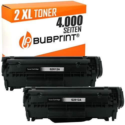 Hp B&w Laserjet (Bubprint 2 Toner kompatibel für HP Q2612A 12A für LaserJet 1010 1012 1015 1018 1020 1022 1022N 3015 3020 3030 3050 3052 3055 M1005 M1319F MFP Schwarz)