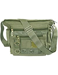 3032d4b7b60d Storite Stylish Cotton Sling Cross Body Travel Office Business Messenger  one Side Shoulder Bag for Men