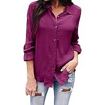 Blusa de Mujer Camisa de Manga Larga para Mujer Formal Oficina Trabajo Uniforme Señoras Casual Tops