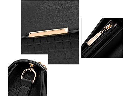 Borsa selvaggia semplice estiva, versione coreana della borsa a tracolla, zaino obliquo, borse, pacchetto mini catena ( Colore : Nero ) Grigio