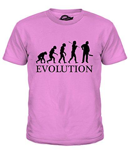 umeister Evolution Des Menschen Unisex Jungen Mädchen T Shirt, Größe 10 Jahre, Farbe Rosa (Der Builder Kind Kostüme)