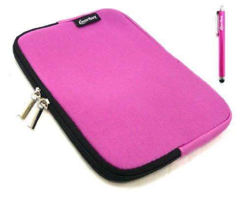 Emartbuy® Archos 80 Cesium 8 Zoll Windows Tablet Hot Rosa Eingabestift + Hot Rosa Wasserfest Neopren weich Zip Tasche Hülle Sleeve ( 8 Zoll Tablet )