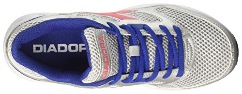 Diadora Shape 7, Chaussures de Course Mixte Adulte Gris (Argento Dd/rosa Brillante)