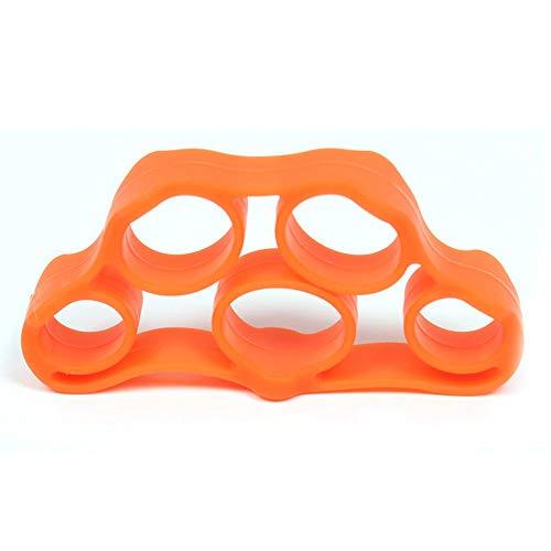 Erduo Beweglicher Fitness-Handfinger-Trainer-Band-Spannungs-Werkzeug Kraft-Ausübender Muskelkraft-Silikon-Expander-Trainings-Erholung - Orange