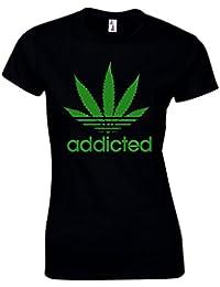Femme T-Shirt Accro À La Weed