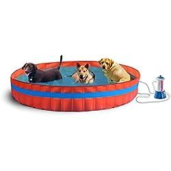 New Plast Piscina para perro perro para Piscina de 305 cm H 46 Filtro de cartucho de tinta, amarillo, 305 x 305 x 46 cm, 3100 K