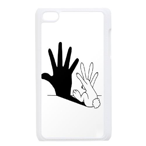 TOPDIY DIY Cover Case for Ipod Touch 4 with Rabbit Hand Shadow