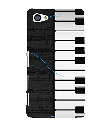 Fiobs Designer Back Case Cover for Sony Xperia Z5 Compact :: Sony Xperia Z5 Mini (Piano Keys Keyboard Casio Black White)  available at amazon for Rs.333