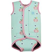Splash About Baby Wrap - Traje de neopreno para niños, color azul cielo, con diseño de manzanas y margaritas, 18-30 meses