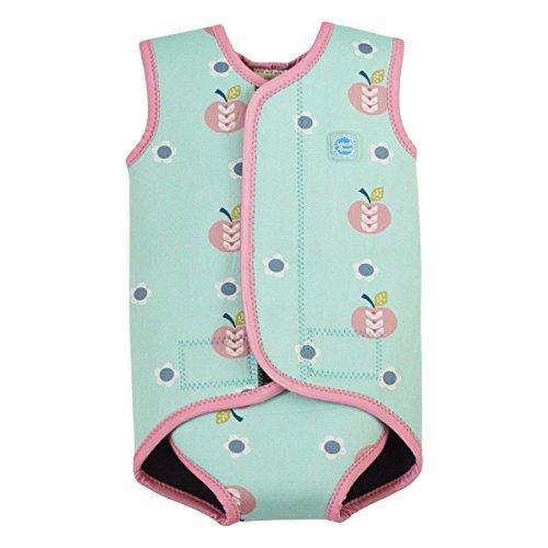 Splash About Baby Neoprenanzug, Blau(Apfel Daisy), Gr.S( 0-6 Monate), (Baby Kostüm Apfel)