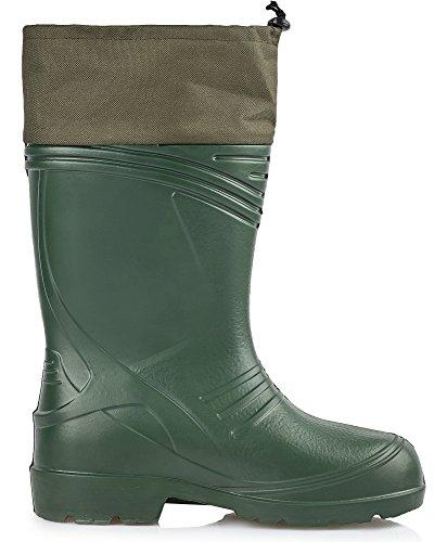 Ladeheid Hommes EVA bottes de Caoutchouc KL035 Olive