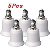 Sonline 5-Pz adattatore E12 a E26 / E27 - Convertitore Lampadario presa (E12) per presa Media (E26/E27) - Fluorescente Pianta Lampadine