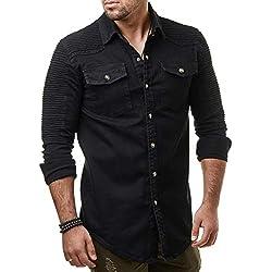 FAMILIZO Camisas Hombre Manga Larga Slim Fit Camisas Hombre Lino Camisas Hombre Originales Baratas Negocio Tops Blusa Hombre Blanca Otoño Business Casual Formal Slim Button-Down Bolsillo