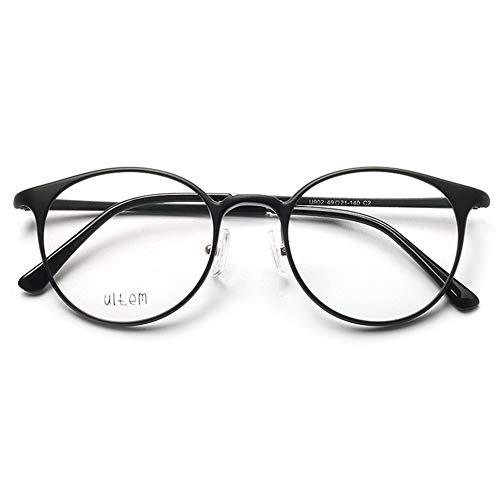 VEVESMUNDO Damen Herren Brillengestelle Brillenfassung Fakebrillen Streberbrille Nerdbrille Pantobrille Retro Rund Vintage TR90 Große Brillen ohne sehstärke mit Brillenetui (Matt Schwarz)