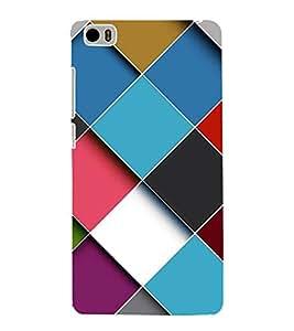 FUSON Cubes Background Multicolor Cube 3D Hard Polycarbonate Designer Back Case Cover for Xiaomi Mi 5 :: Redmi Mi5