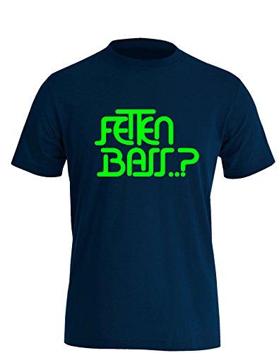 Fetten Bass..? Herren TShirt Navy / Neongrün