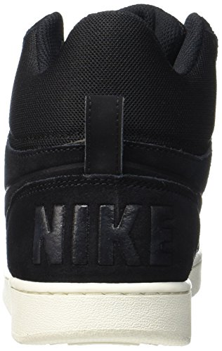 Nike Herren Court Borough Mid Premium Hohe Sneaker Schwarz (BLACK/SAIL)