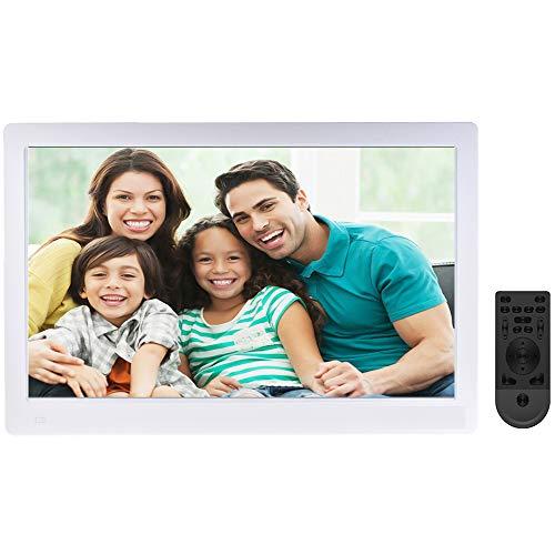 Digitaler Bilderrahmen 17.3 Zoll Widescreen 1920x1080 IPS Hohe Auflösung Full HD LCD Farbdisplay,Wifi-Netzwerkversion,Menschlicher Körper Induktion, Musik/Video Player, mit Fernbedienung (16GB Card)