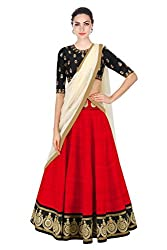 Omstar Fashion Lehenga Choli (OMAL_Red_Free Size )