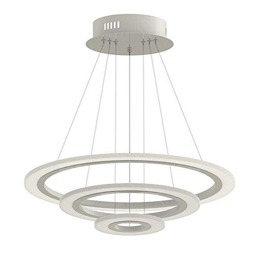 3-ring Mit Einem Brenner (SAILUN® 70W LED Acryl Hängelampe Drei Ringe Deckenlampe Pendelleuchte Kreative Kronleuchter Warmweiß Lüster SMD-Lampe Perlen)