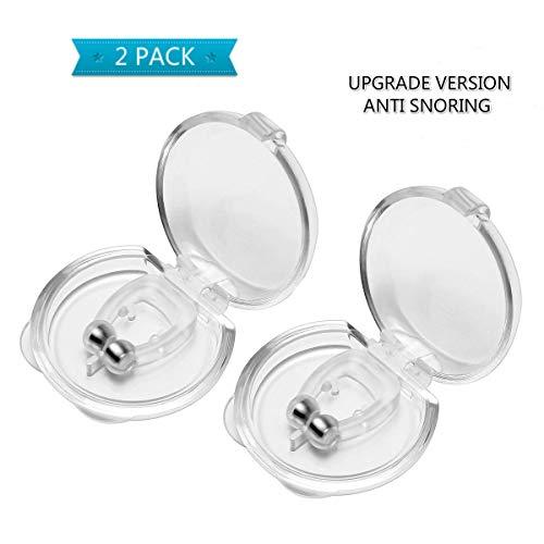 Anti Ronquidos Clip, Silicona Magnético Anti Ronquidos Clip Nasal Magnético Anti-Ronquidos, Facilitar la Respiración y Dormir Cómodo, 2 Piezas