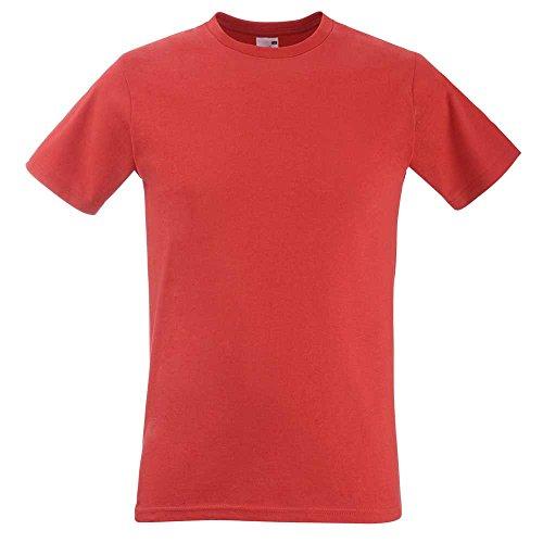 Fruit of the LoomHerren T-Shirt Rot - Rot
